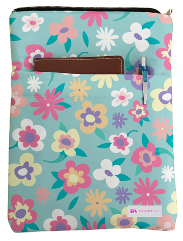 Colorful Floral Book Sleeve - Book Cover For Hardcover and Paperback - Book Lover Gift - Notebooks and Pens Not Included