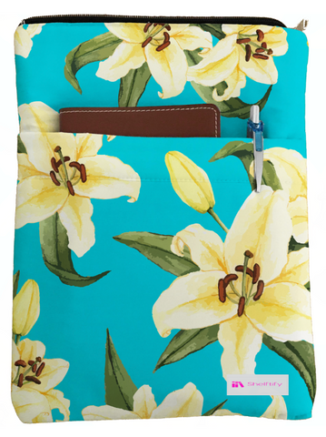 Lily Book Sleeve - Book Cover For Hardcover and Paperback - Book Lover Gift - Notebooks and Pens Not Included
