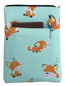 Baby Foxes Book Sleeve - Book Cover For Hardcover and Paperback - Book Lover Gift - Notebooks and Pens Not Included