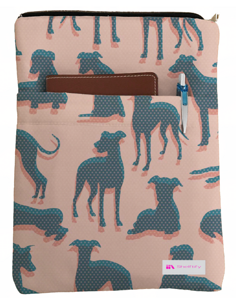 Dog Pattern Book Sleeve - Book Cover For Hardcover and Paperback - Book Lover Gift - Notebooks and Pens Not Included