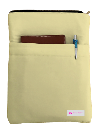 Buttermilk Book Sleeve - 100% Cotton Fabric