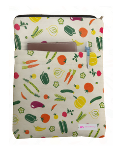 Veggie Garden Book Sleeve - Deluxe Japanese Cotton