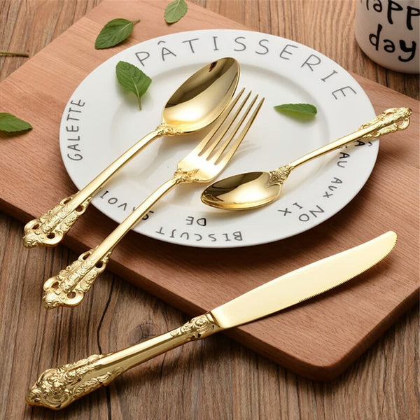 Victorian Gold Cutlery Sets