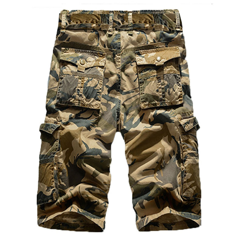 GROUNDED CAMO SHORTS