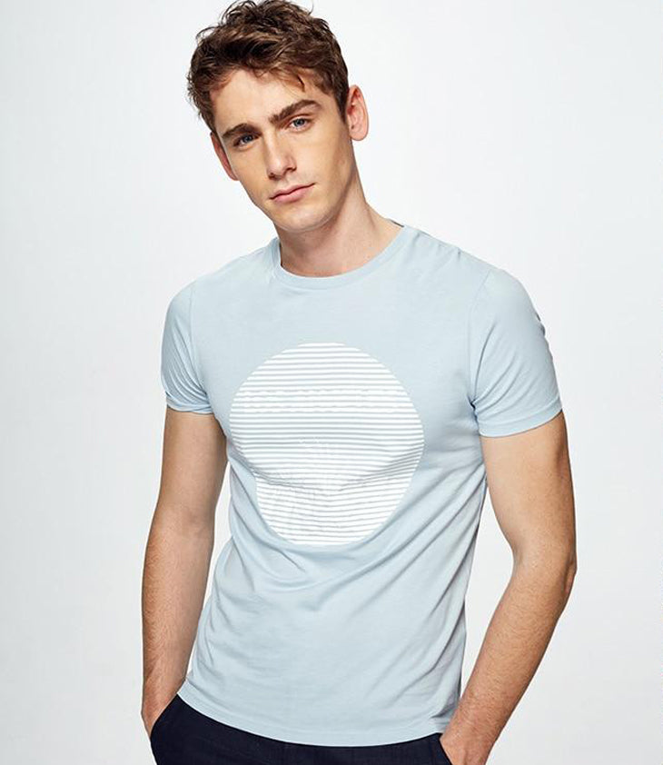 Striped Solid color T-shirt