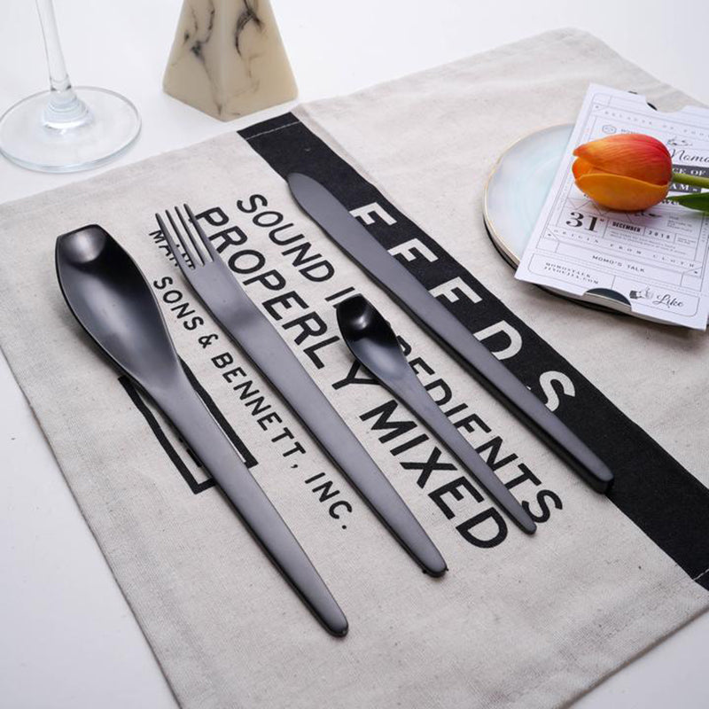 Black Diamond Cutlery Sets