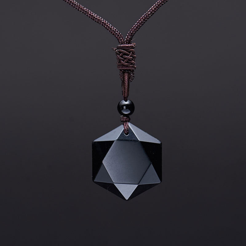 Obsidian Six Stars Lucky Necklaces