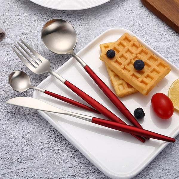 Red Velvet Cutlery Set