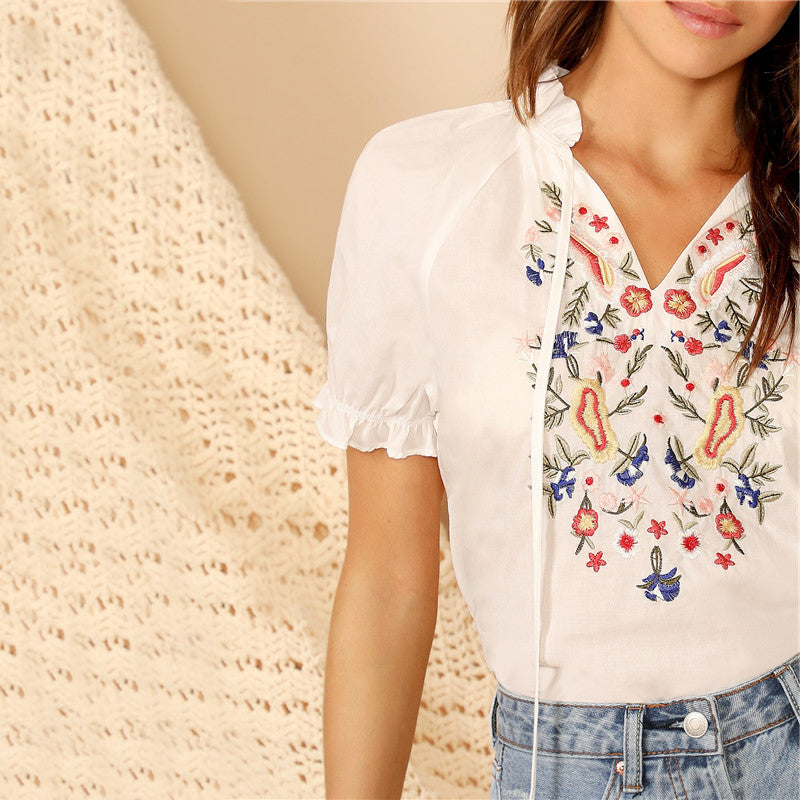 SHEIN FLOWER REFRESHER BLOUSE