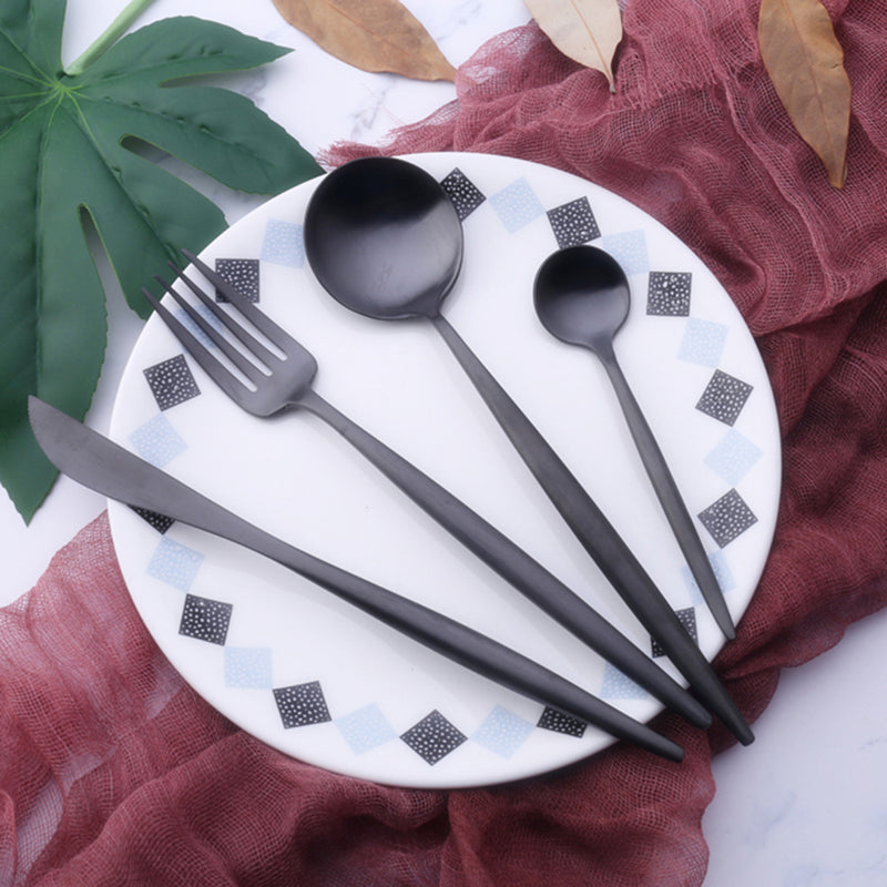Stylish Black Cutlery Sets