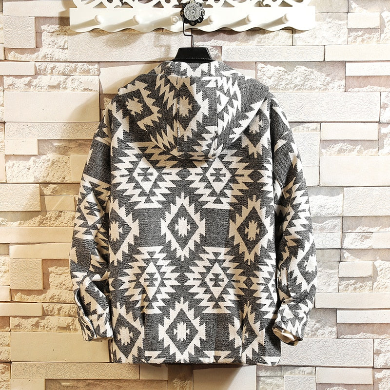 Pattern Cardigan Sweater