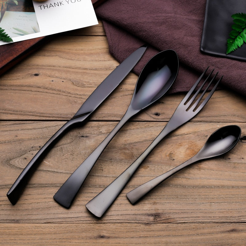 Black Mirror Flatware Set