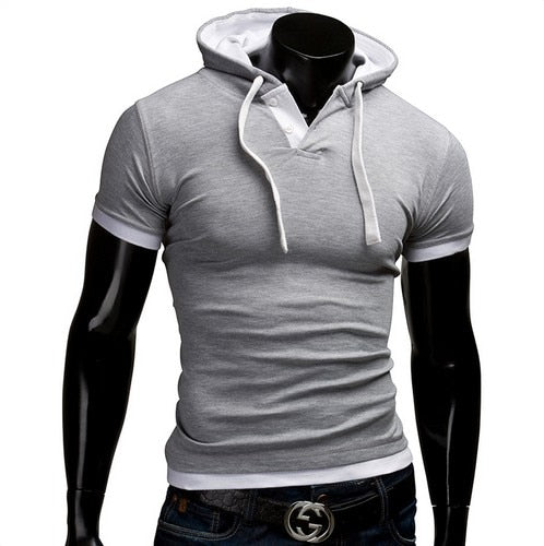EXTRA SLIM HOODED T-SHIRT