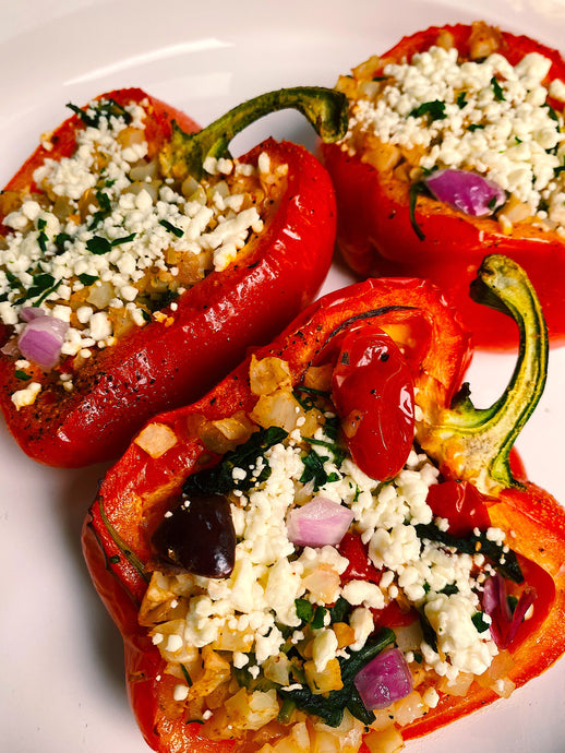 Vegetarian Stuffed Peppers in 30 Minutes or Less!
