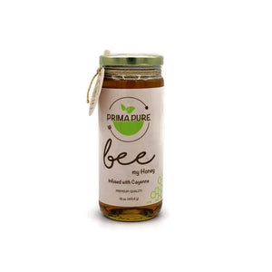 Cayenne Infused Honey - 16 fl oz Made from certified organic cayenne peppers