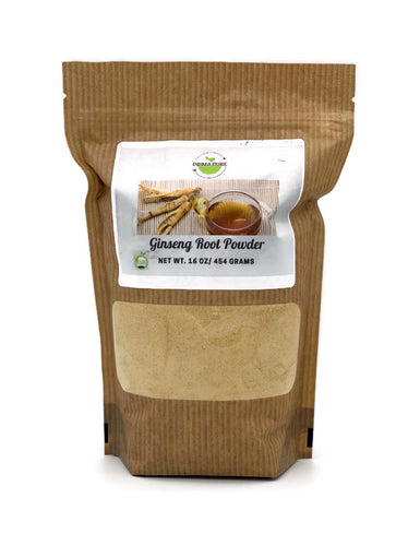 Organic Panax Ginseng Extract Powder - with High Ginsenosides, No GMOs and Vegan Friendly. 1LB