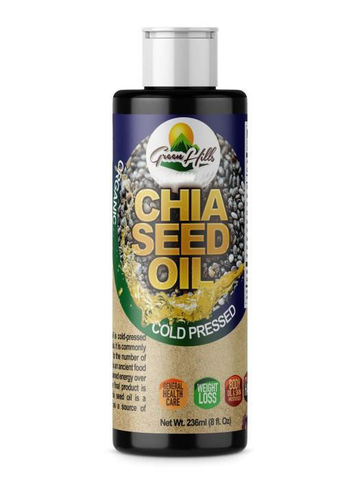 Organic Chia Seed Oil - 8 fl oz High Omega-3 essential fatty acids