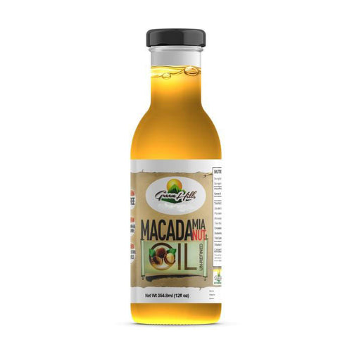 Organic Macadamia Nut Oil - 12 fl oz Extra Virgin