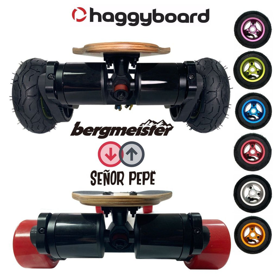 Haggy Drive System - 2 in 1 - (Street and All-terrain) incl. Señor Pepe 90mm & Bergmeister All-terrain wheels