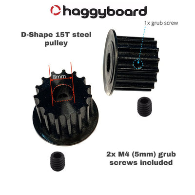 15T HTD-5mm - D-SHAPE steel motor pulley kit