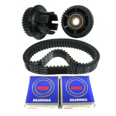 Nylon glass fiber 36T dual drive gear and 295mm x 15mm belt combo kit for Abec 11 flywheels