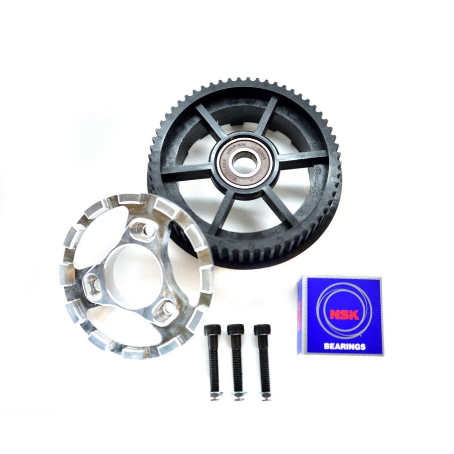 Bergmeister single nylon glass fibre composite 60T black drive gear with 6001 type ball bearing made for the Bergmeister wheel