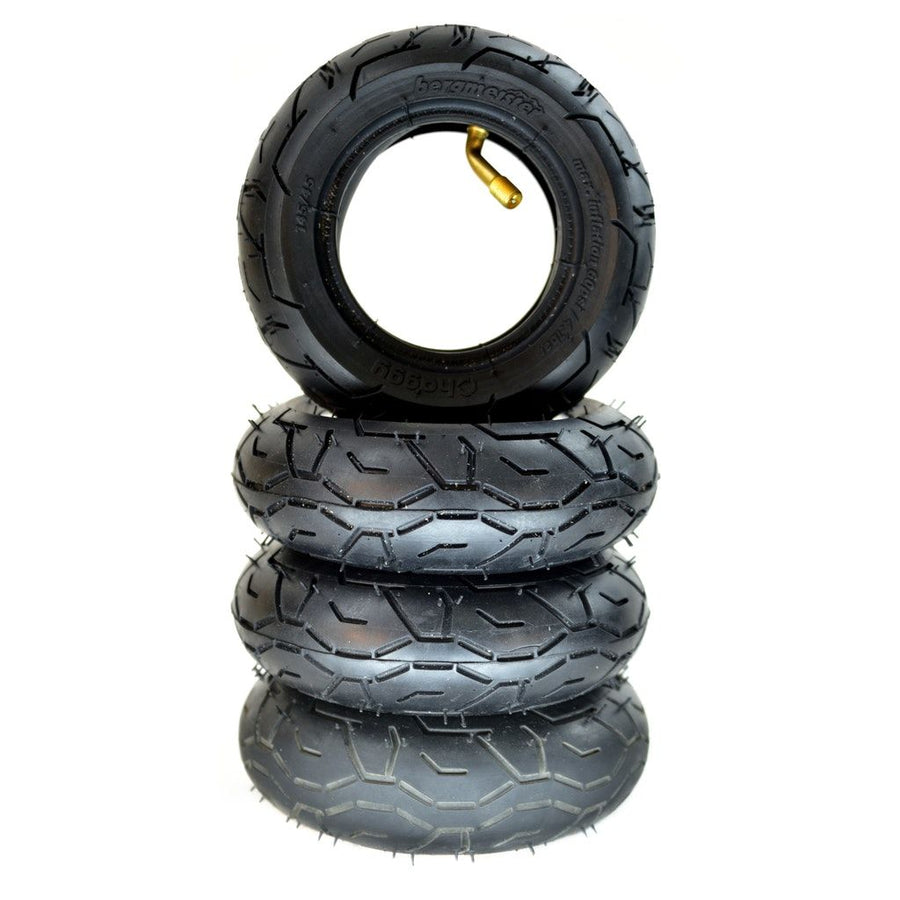 Set of 4 Bergmeister black coloured tires