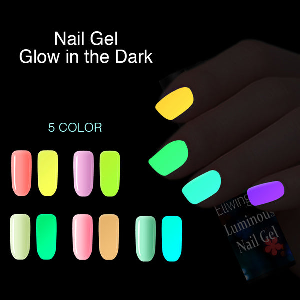 5Pcs/Set Glow in the dark Nail Polish