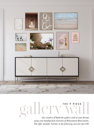 9 PIECE GALLERY WALL - HONEYMOON HOTEL