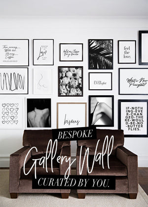 BESPOKE GALLERY WALL - DISCOUNT ART BUNDLE - HONEYMOON HOTEL