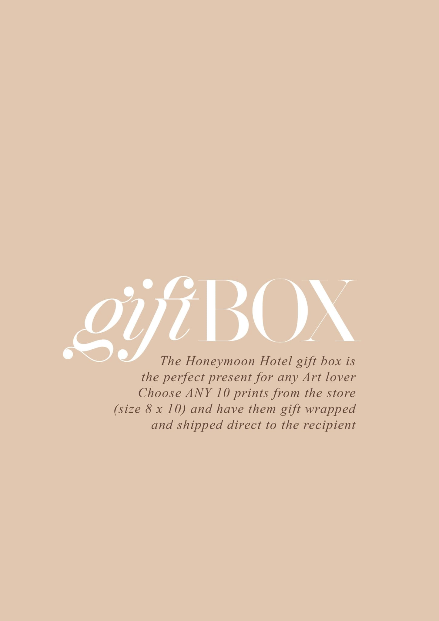 GIFT BOX - HONEYMOON HOTEL