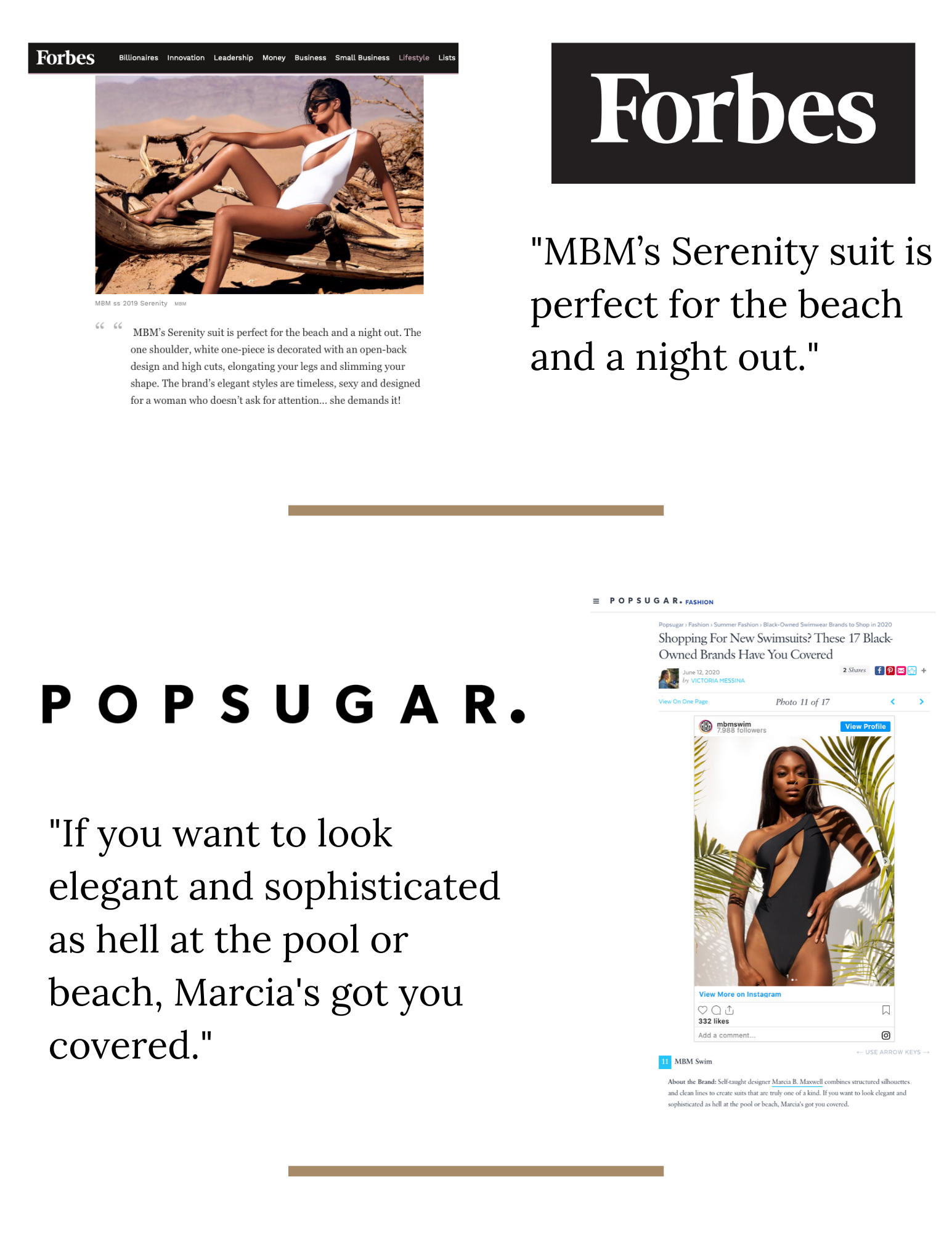 MBM Swim Press - Forbes & Popsugar