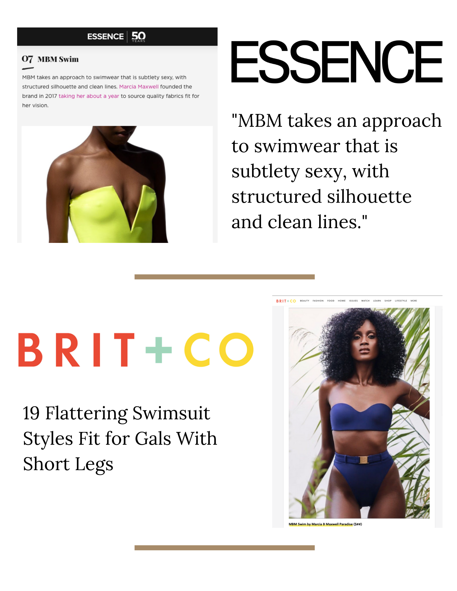 MBM Swim Press - Essence & Brit.co