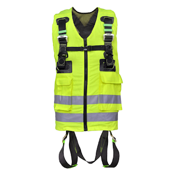 Yellow High-Visibility 2 Point Full Body Harness - FA 10 302 00