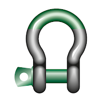 Green Pin Super Bow Shackle