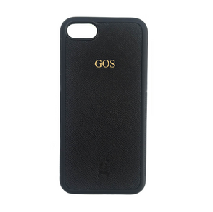 Personalised Leather Phone Case - Black