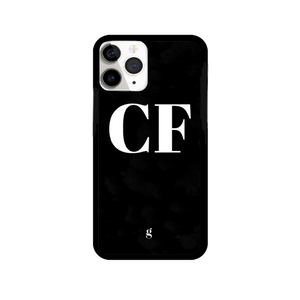 Personalised Black Bold Text Print Phone Case