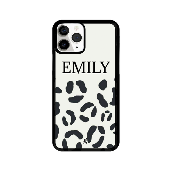 Personalised Leopard Print Phone Case