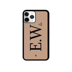 Personalised Love Heart Nude Phone Case