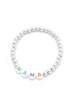 Personalised Friendship Bracelet Silver - Multicoloured