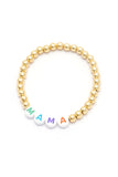 Personalised Friendship Bracelet Gold - Multicolured