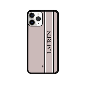 Personalised Double Side Stripe Phone Case