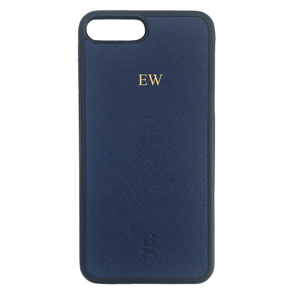 Navy Iphone Leather Case