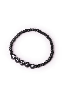 Personalised Candy Bracelet Black - Black & White