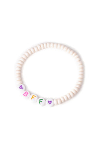 Personalised Candy Bracelet Cream - Multicoloured