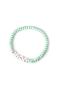 Personalised Candy Bracelet Mint - White & Gold
