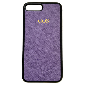 Personalised Leather Phone Case - Purple
