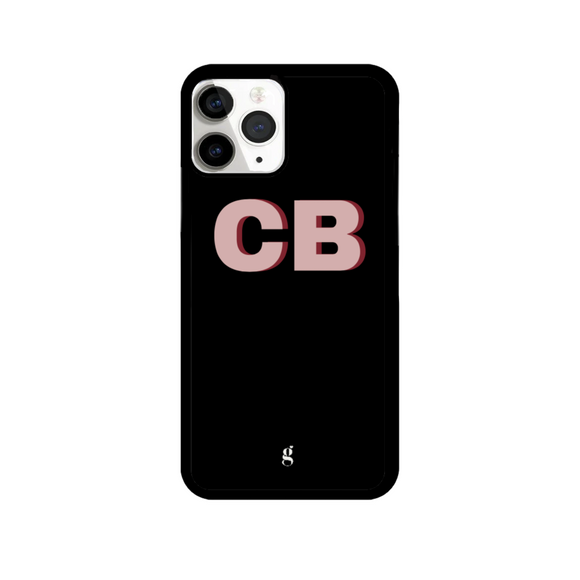Personalised Black Bold Rose & Burgundy Text Phone Case
