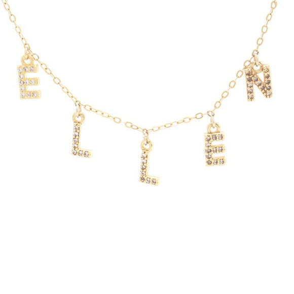 Personalised Necklace - 14k Gold Plated