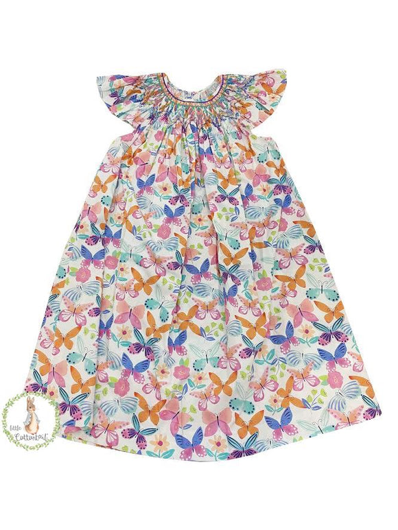 Mom & Me Butterfly Angel Sleeve Bishop Dress